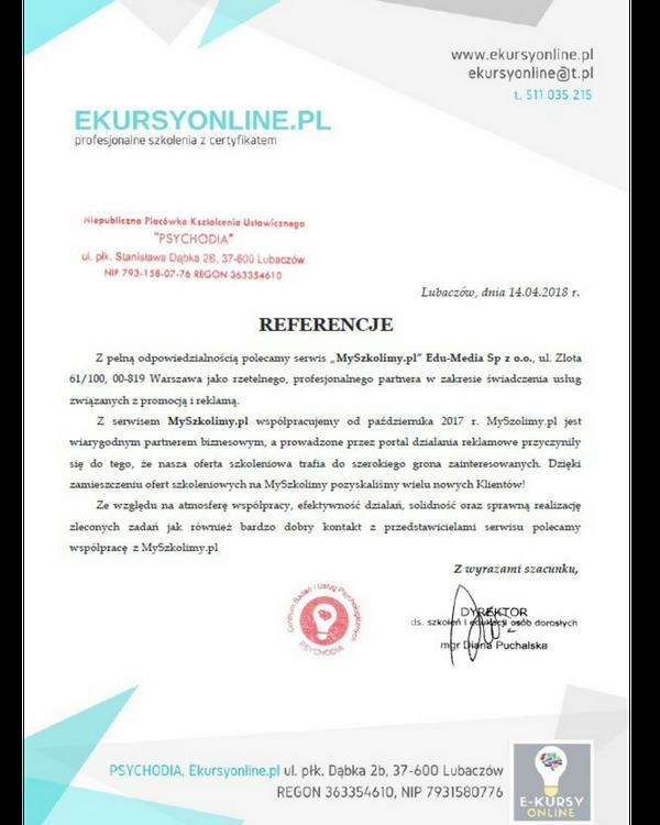 Klienci o współpracy z MySzkolimy.pl